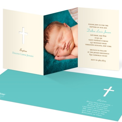 Baby Christening Invitations -- Photo Perfection