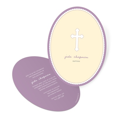 Christening Invitations -- Round Moments