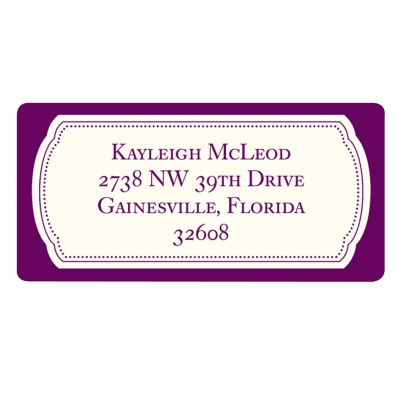 Graduation Address Label -- Modern Emblem