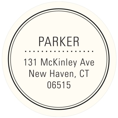 Round Address Labels -- Top of the Class