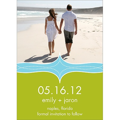 Photo Save the Date Cards -- Elegant Swirls