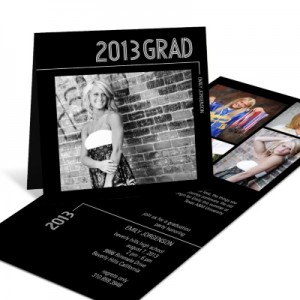 Photo Graduation Invitation -- Striped Success