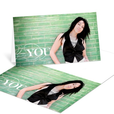Photo Graduation Thank You Card -- Sophisticated Swirls