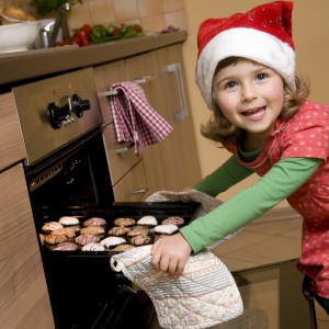 kids baking cookies