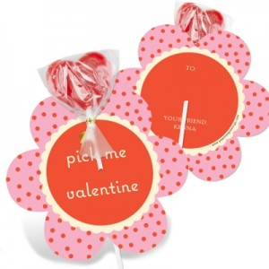 Valentine's Day Candy Cards -- Polka Dot Petals