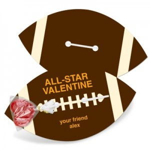 Kids Valentine Cards -- All-Star Modern Football