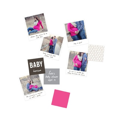 Baby Shower Decorations -- Expectant Photos Table Decor