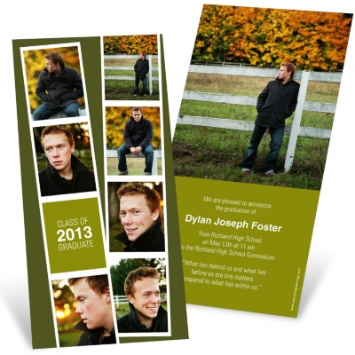Graduation Invitation -- Photo Booth Strip