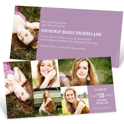 Horizontal Graduation Party Invitation -- Looking to the Future