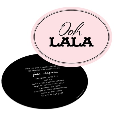 Bachelorette Party Invitations -- Ooh La La Lingerie