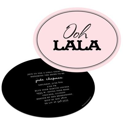 Bachelorette Party Invitations -- Ooh La La Lingerie