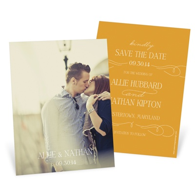 Save the Date Cards -- Swirling Vintage Script