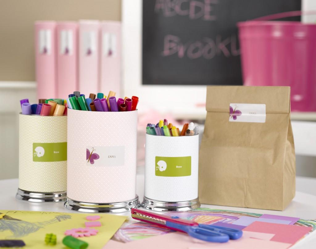 Kids organization ideas for back to school #peartreegreetings #kids #school #labels