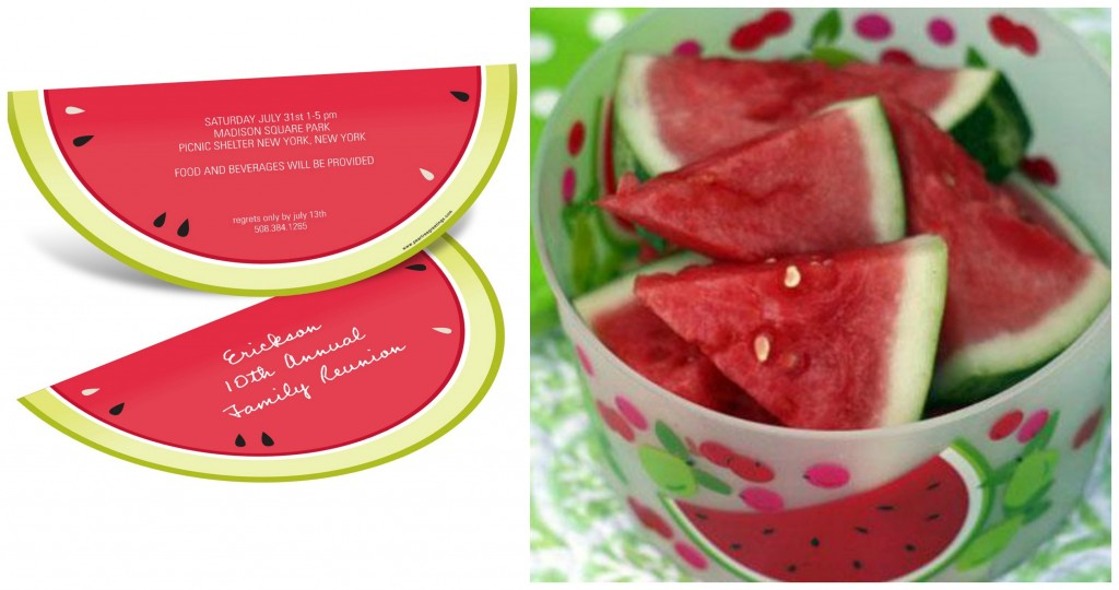 Watermelon themed summer party ideas #peartreegreetings #watermelon #partyideas