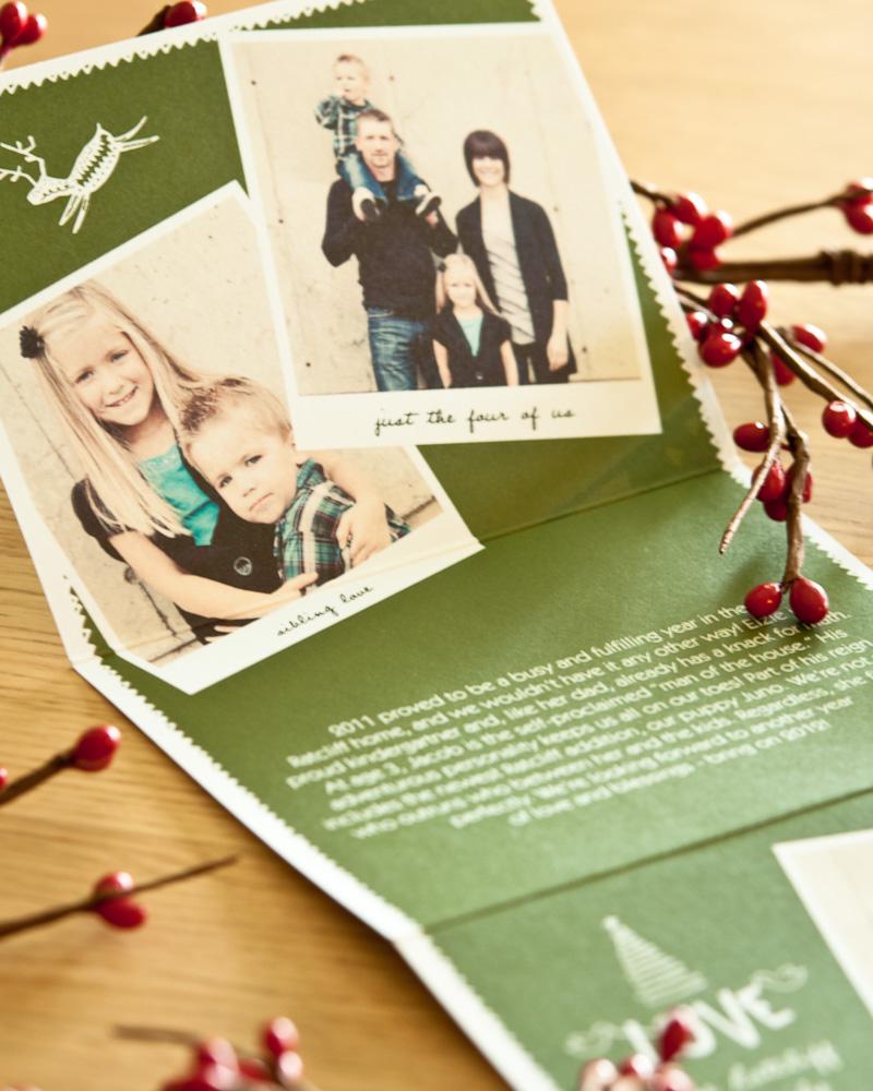 Modern Christmas card letter