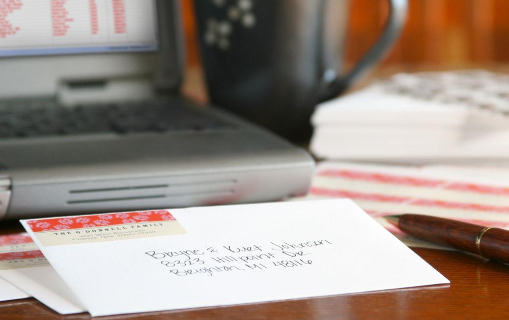 Updating Christmas Address book