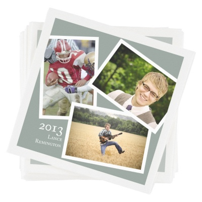 Personalized Beverage Napkins -- Senior Portraits