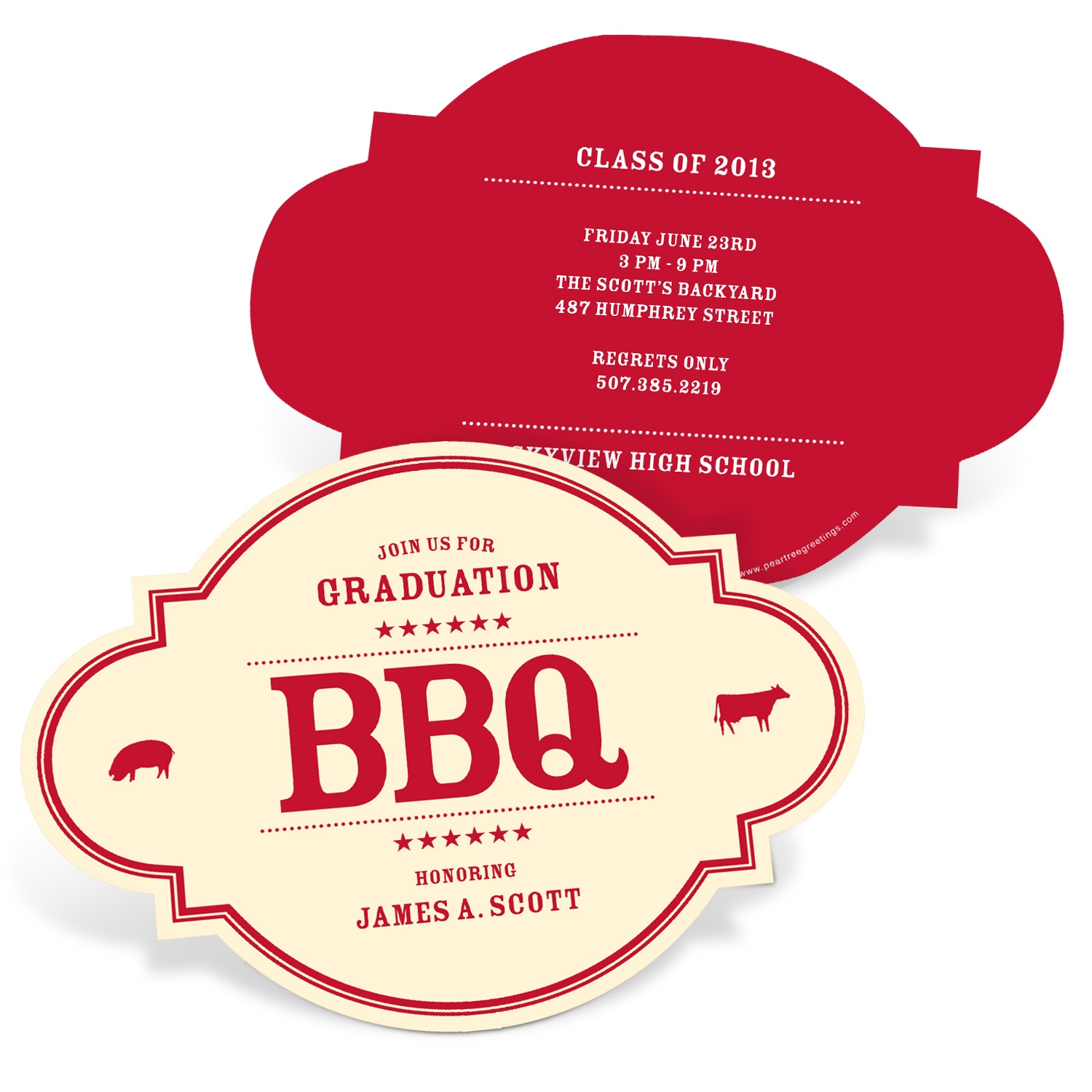 Graduation BBQ Invitations -- BBQ Gathering