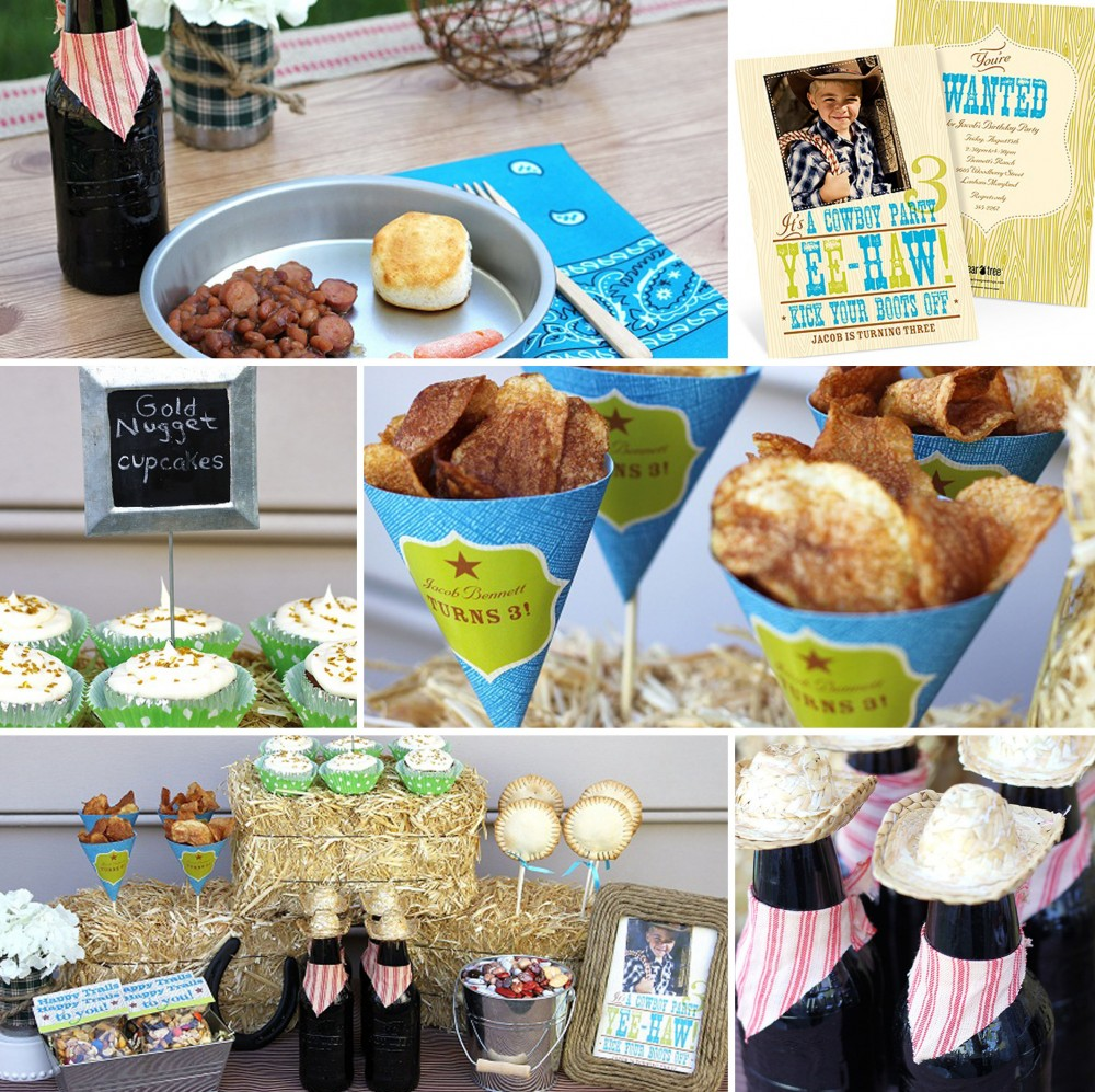Western Birthday Party Ideas #cowboy #peartreegreetings #western #birthday