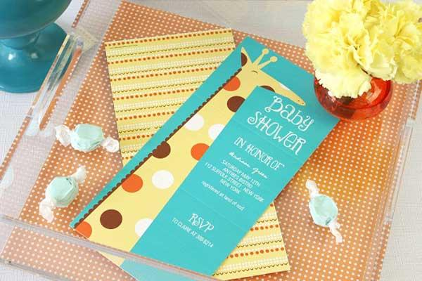 Giraffe Baby Shower Invitations -- Whimsical Welcome