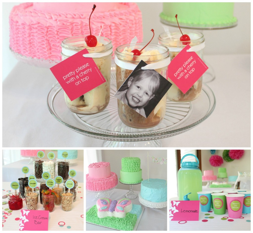 Girl's ice cream birthday party ideas #peartreegreetings #icecream #birthday