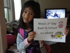 Nina 1st grade