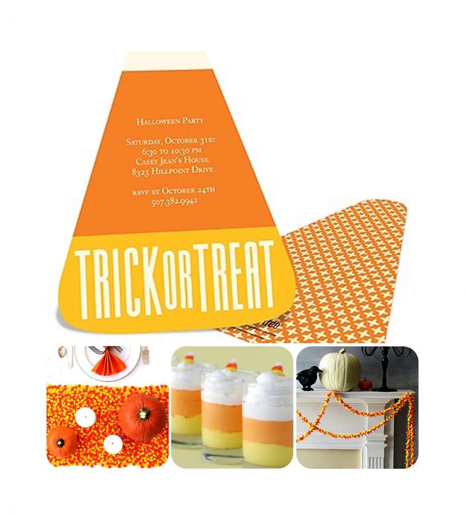 Halloween Candy Corn Party Ideas