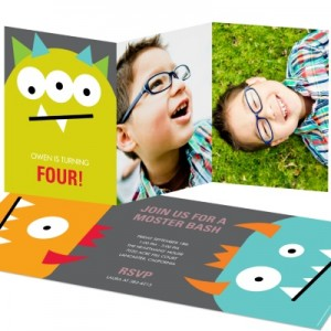 Monster Birthday Invitations -- Monster Bash