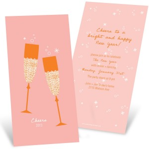 Holiday Cocktail Party Invitations -- Sparkling Toasts