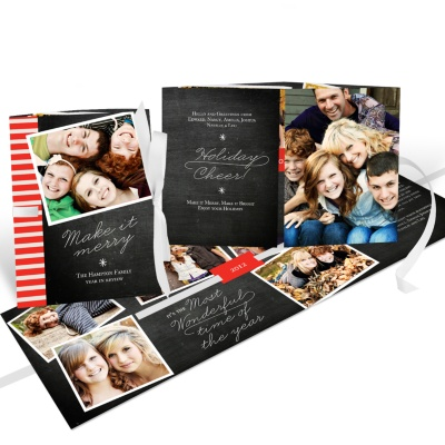 Photo Christmas Cards - Flowing Holiday Cheer