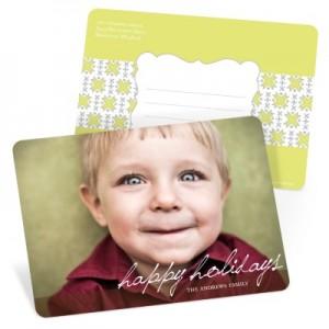 Photo Christmas Cards -- Simple Script