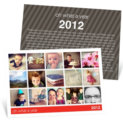 Photo Christmas Cards -- Snapshots of a Year