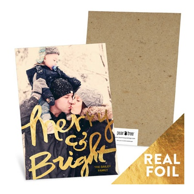 Bold Gold Foil Christmas Cards