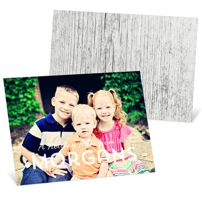 Wood Back Photo Christmas Cards