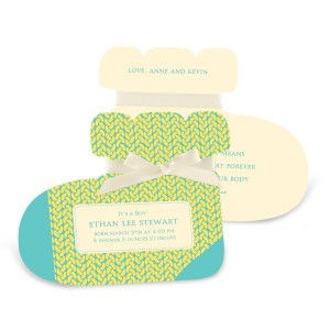 Sweet Feet in Blue -- Boy Birth Announcements