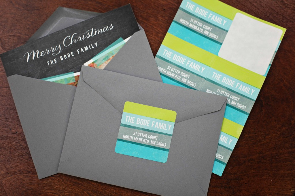 Addressing Christmas Cards