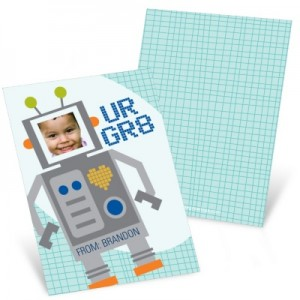 Valentine's Day Cards for Kids -- Robot Greatness