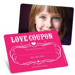 Valentine's Day Greeting Cards for Kids -- Love Coupon
