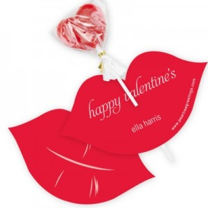 Candy Valentine Cards -- Love and Lips