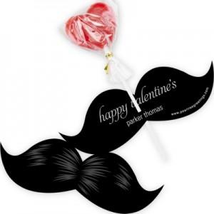 Valentine Candy Cards -- Stylish Mustache