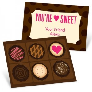 Valentine's Day Cards for Kids -- Cheerful Chocolates