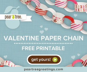 Free Valentine Paper Chain Printable