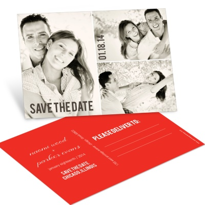 Save the Date Postcards -- Blocks of Love Photo