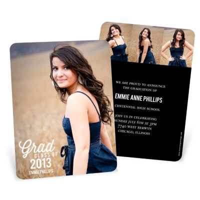 Graduation Announcements & Invitations -- Favorite Photo Vertical