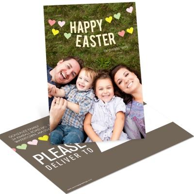 Vintage Easter Postcards -- Heart Strung