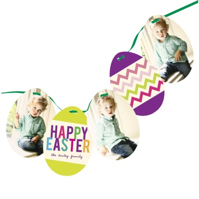 Photo Easter Cards -- Zig Zag to Spring