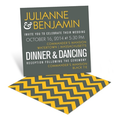 Poster Wedding Invitations -- Modern Message