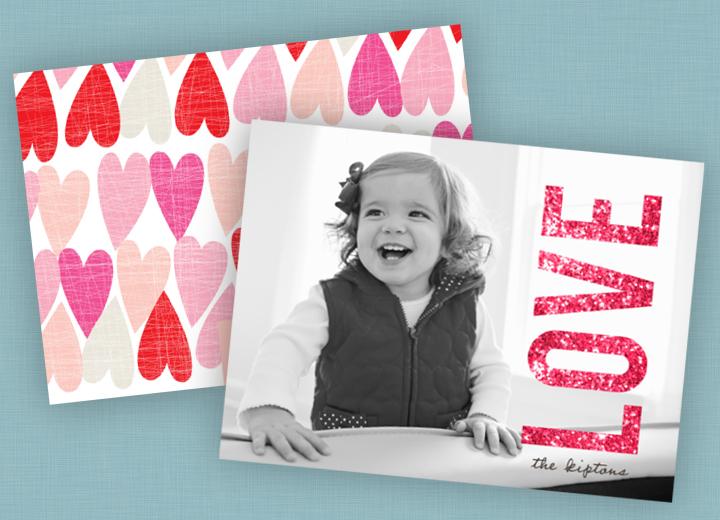 Valentine's Day Photo Cards -- Glowing Love Horizontal Photo