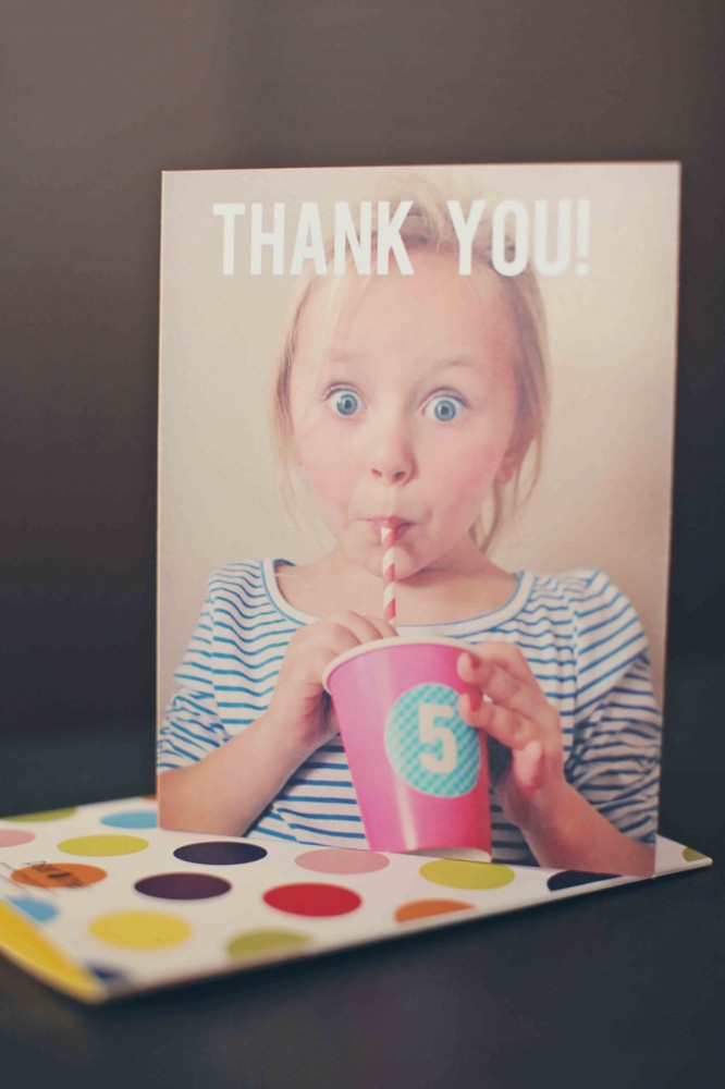 Thank You Cards -- First Big Party