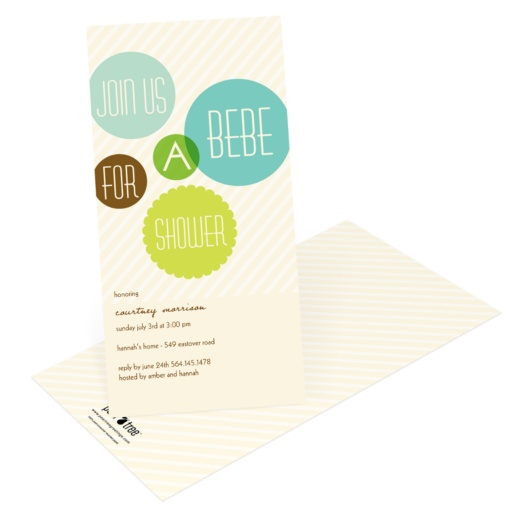 Creative Baby Shower Invitations -- Floating Green Circles